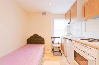 A single bed in a kitchen in Stoneybatter