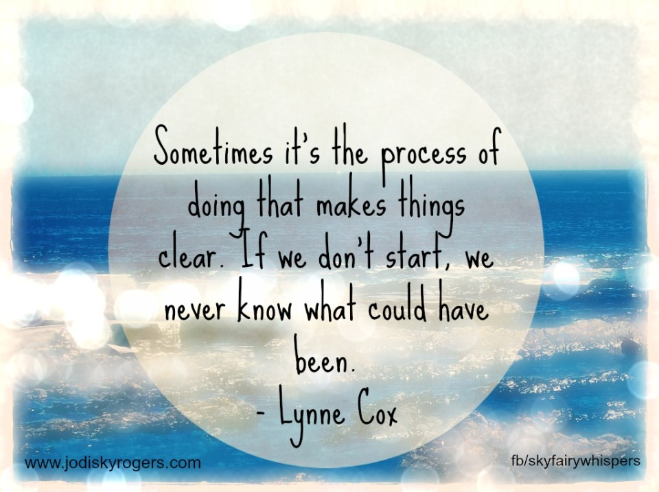 Sometimes it's the process of doing that makes things clear.