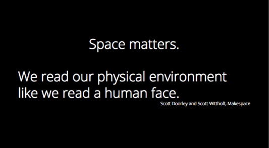 We read our physical environment like we read a human face.